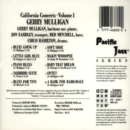 California Concerts , Volume 1 by Blue Note Records