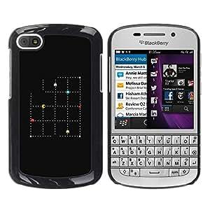 Paccase / SLIM PC / Aliminium Casa Carcasa Funda Case Cover para - Pink Gold Baby Blue White Pattern - BlackBerry Q10