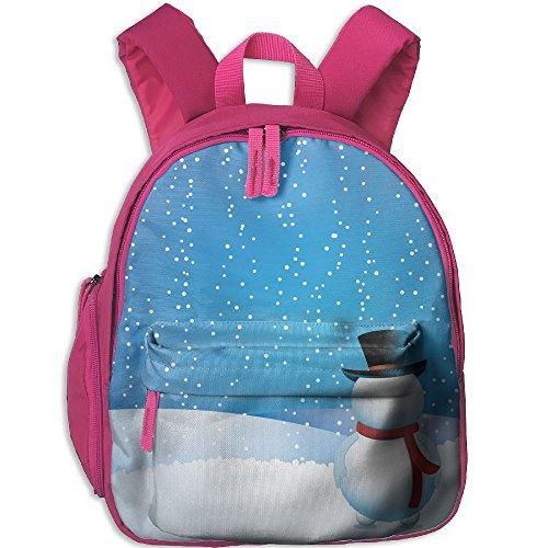 HenSLK Cute Winter Snowman Kid's School Casual Lightweight Shoulder Backpack Bag Children - Sunglasses Yoshi