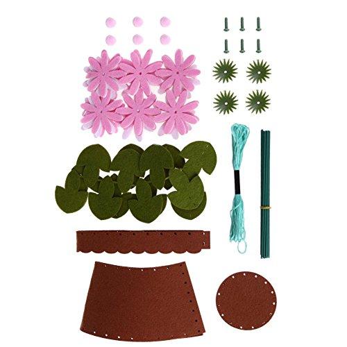 ttnight DIY Button Bouquets Button Flower Material Kit Paper Cord Children Handmade Gift