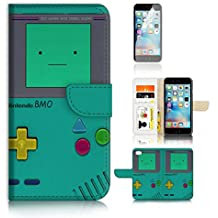 iPhone 6 6S (4.7') Flip Wallet Case Cover & Screen Protector Bundle! A20278 Video Game