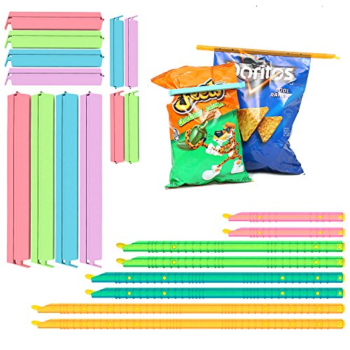 Free Eco Friendly Bags (Plastic Bag Sealer Chip Clips Seal Sticks Sealing Bag Clamps (20PCs) by ZB, Multi-Length Eco-friendly, Watertight Airtight, Reusable, Easy storage, Keep Food Fresh and Stale Free (Mixed Colors))