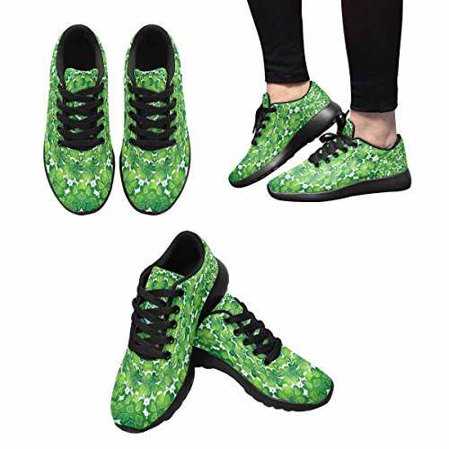 Interestprint Chaussures De Course De Trail Jogging Sport Léger Marche Athlétique Sneakers Trèfle St.patricks Jour Multi 1