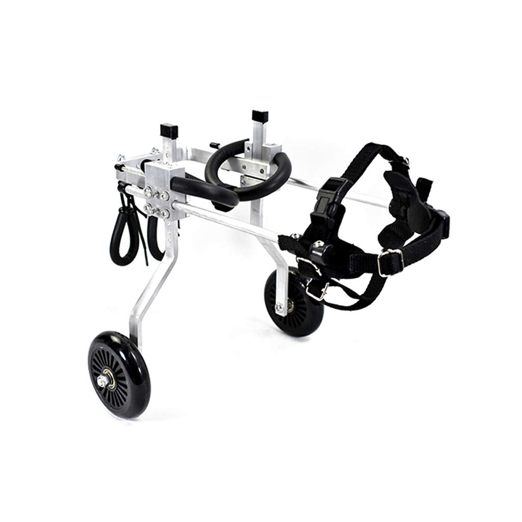 SXZHSM Pet Wheelchair Disabled Forelimb Wheelchair Dog Car Assisted Vehicle Rehabilitation Exercise Pet car seat (Size : XXS-1)