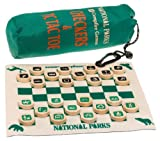: Checkers/Tic Tac Toe Tin National Parks