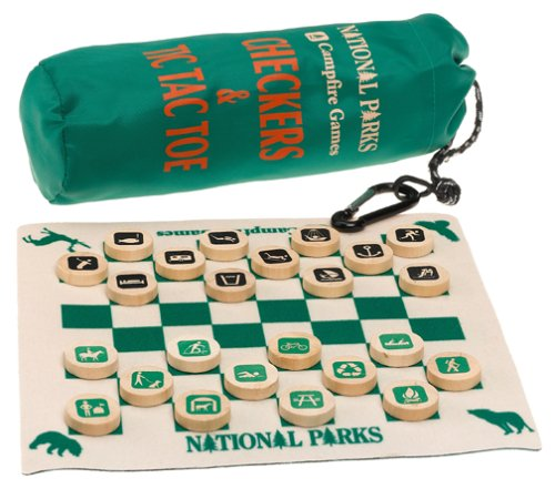 Checkers/Tic Tac Toe Tin National Parks