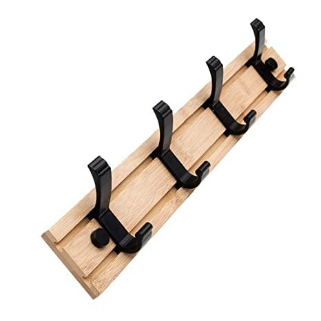 Amazon.com: Wall - Perchero de madera maciza para colgar ...