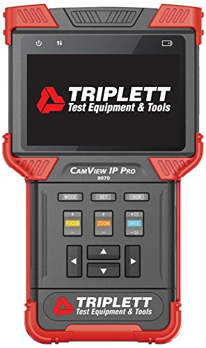 Triplett CamView IP Pro Camera Tester with Built-in DHCP Server - Test, Verify, Troubleshoot Cameras, Cables, Networks Before Network Setup | Record, Save & Export Full IP Camera Reports - (8070)