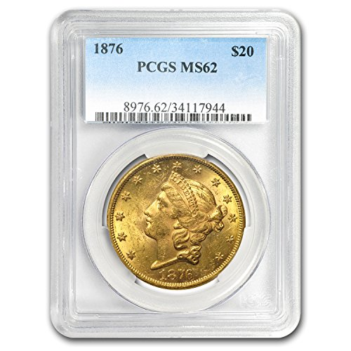 1876 $20 Liberty Gold Double Eagle MS-62 PCGS G$20 MS-62 PCGS