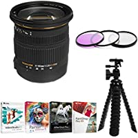 Sigma 17-50mm f/2.8 EX DC OS HSM Zoom Lens for Canon w/ Filter, Tripod & Corel Software Bundle
