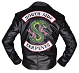MSHC Jughead Riverdale Southside Serpents Men Women Biker Leather Jacket (XS) Black