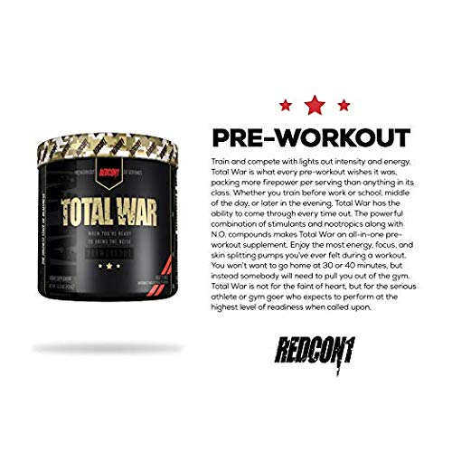 Total War - Pre Workout - 30 Servings - Newly Formulated (Strawberry Lemonade Slushy)   Limited Edition Any Body Supplements Exclusive by Redcon1 (Image #3)