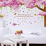 "SWORNA Nature Series Large Beautiful Cherry Sakura Tree Removable Vinyl DIY Wall Art Mural Decor Sticker Decal for Bedroom Living Room Kindergarten Home Office Playroom School Kids Nursery 83""H X 87""W"