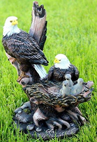 AMERICAN BALD EAGLE FAMILY STATUE