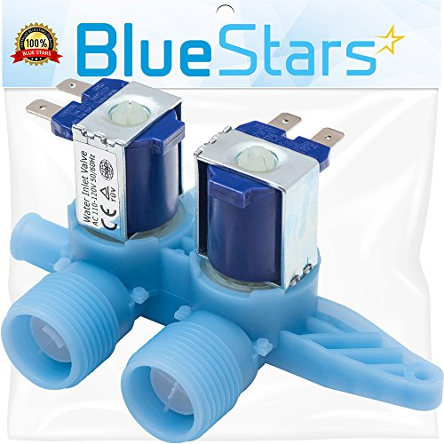Ultra Durable WH13X10024 Water Inlet Valve Replacement Part by Blue Stars – Exact Fit For GE & Hotpoint Washers – Replaces WH13X0086 PS1155105 ()