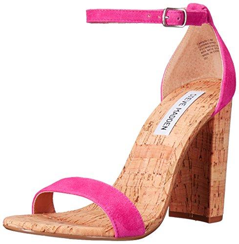 Steve Madden Womens Carson-C Dress Sandal Hot Pink