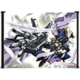 """Mobile Suit Gundam Wing Anime Fabric Wall Scroll Poster (17""""x16"""") Inches"""