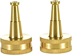 """Sanpaint 2 Pack Sweeper Nozzle for Garden Hose, 2"""" Hose Jet Nozzle with 3/4-Inch Hose Thread Inlet"""