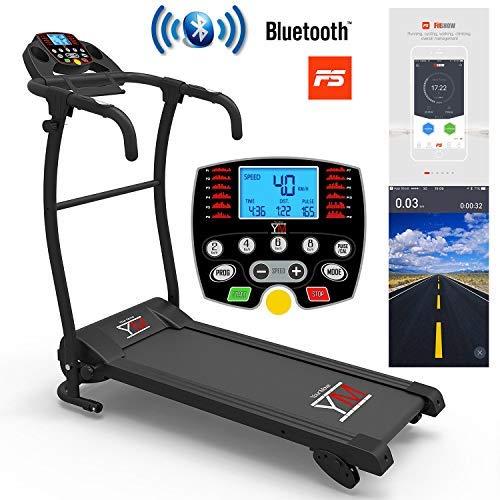 YM Tapis ROULANT Elettrico Pieghevole Bluetooth 1500 W App I FITSHOW SENSORE Cardiaco Cardio 1500 W / (2,5 HP Picco)