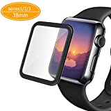 Apple Watch Screen Protector 38mm (Series 1/Series 2/series3),Amoner Tempered Glass Screen Protector[Anti-scratch] [Bubble-free] for Apple Watch 38mm Clear HD Anti-Bubble Film
