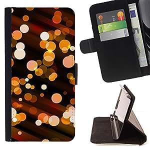Momo Phone Case / Flip Funda de Cuero Case Cover - Bling bola de discoteca luces City Night Street - Sony Xperia Z2 D6502
