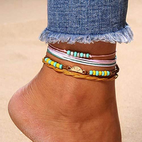 Zoestar Beaded Anklet Ankle...