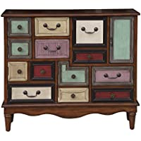 Eclectic A Mix Of Drawers And Doors Wood Chest With Finish DS-D153-057