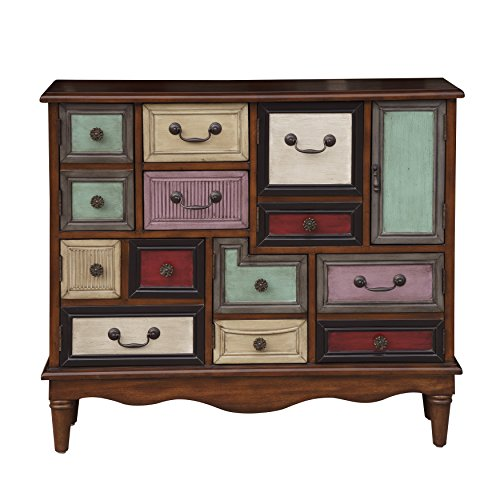 Eclectic A Mix Of Drawers And Doors Wood Chest With Finish DS-D153-057 by Accentrics Home
