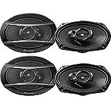4 Pioneer 6x9 Inch 3-Way 420 Watt Car Coaxial Audio Stereo Speakers | TS-A6966R