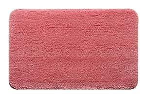 [de] decoración del hogar alfombra baño/sala de estar Felpudo para interiores/exteriores alfombrilla, Rosa, 17.72X pasta adhesiva