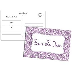 50 Save the Date Postcards - Fill in the Blank