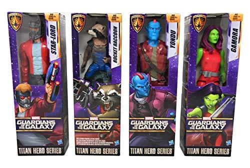 - Nozlen Toys Bundle Marvel Titan Hero Series 12-inch Figure Guardians of The Galaxy Set Including Star-Lord, Gamora, Yondu, and Rocket Raccoon Plus Bonus Bag