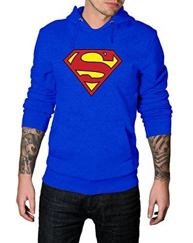 0ff1b5a325 Decrum Mens Blue Smallville Superman Logo Hoodie - Mens Blue Hoodie