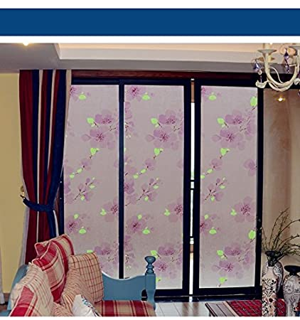Generic Noglue Static Glass Film Frosted Translucent Glass Door Living Room Bathroom Window Sticker Printing Plum : translucent door film - pezcame.com