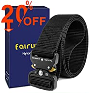 Fairwin Tactical Rigger's Belt, Military Style Webbing Nylon Web Belt with Heavy-Duty Quick-Release Metal