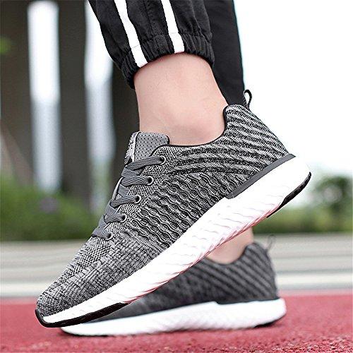 de légères Mode Les 2955 extérieures Hommes Chaussures Grey Hommes Les Espadrilles Chaussures des décontractées de Course des Lacent YqxRZX