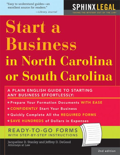 Read Online Start a Business in North or South Carolina (Legal Survival Guides) pdf