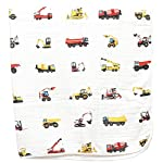 100-Organic-Muslin-Everything-Blanket-by-ADDISON-BELLE-Oversized-47-inches-x-47-inches-Best-BabyToddler-Gift-Premium-4-Layer-Muslin-BlanketDream-Blanket-Construction-Trucks-Print