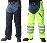 Missing Link Reversible Hook Chaps with Kevlar Insert (Black/HiViz Green, XXX-Large)