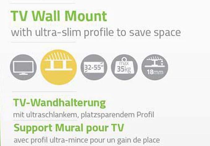 TronicXL - Soporte de pared para televisores de 32-55 pulgadas (compatible con JVC Sharp Sony Thomson Medion Samsung LED LCD TFT): Amazon.es: Electrónica