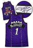 Tracy McGrady Toronto Raptors Signed Purple Rookie NBA Swingman Jersey - Certified Authentic Autograph