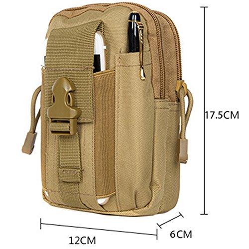 De los hombres bolsas de viaje Hombre Messenger bolsas multifunción bolsa de nailon resistente al agua Material, camouflage negro