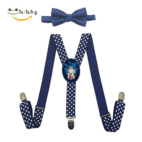 Grrry Children Lucky Meowth Adjustable Y-Back Suspender+Bow Tie (Meowth Costume Ideas)