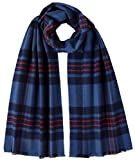 Johnstons of Elgin Unisex Fife Extra Fine Tartan Scarf - Blue/Red