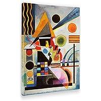 Giallo Bus Quadro Stampa Su Tela Canvas Kandinsky, Modello Oscillazione, Vari Formati Xxl