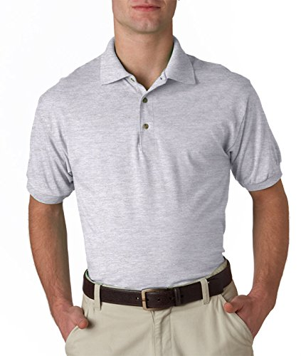 Gildan mens DryBlend 6 oz. 50/50 Jersey Polo(G880)-ASH GREY-4XL