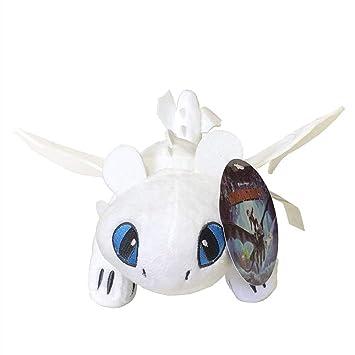Toothless Dragon Dragon Light Fury Stuffed Animal Plush Doll Toy Defenders of Berk (10inch)