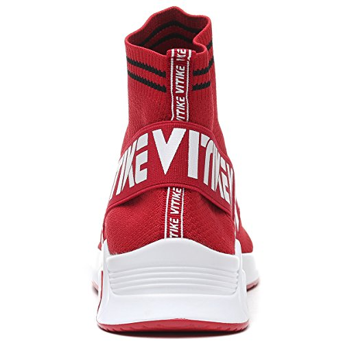 Athletic Air Knit Shoes Lightweight Sneakers Socks Womens Breathable Boys Casual Running Shoes 1 Girls Gym Pattern Fashion Cushion red Mesh Shoes qWwFxYIz