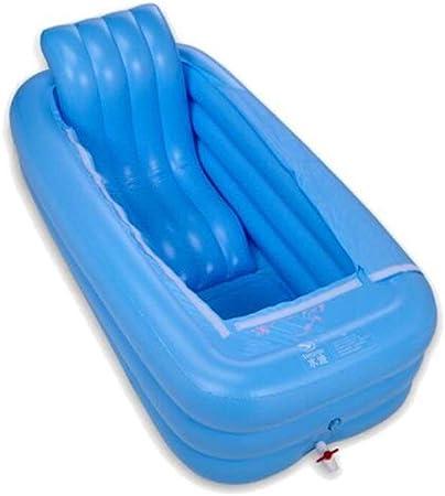 BHDYHM Piscina Inflable, Piscina, Deportes acuáticos con Respaldo, Piscinas inflables Bañera Inflable Tome un baño Fumigación Baño de Burbujas Mantener Caliente Plegable: Amazon.es: Hogar