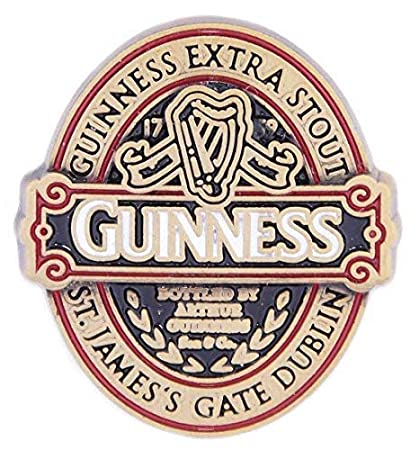 OFFICIAL MERCHANDISE GUINNESS GIFT LAPEL PIN FROM THE CLASSIC COLLECTION
